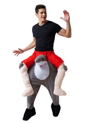 Shark Shoulder Carry On Piggy Back Ride On Me Costume