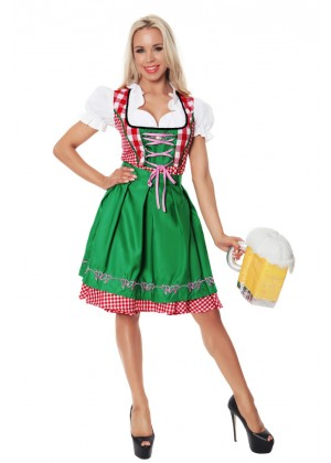 Ladies Bavarian Maiden Beer Gretchen Costume