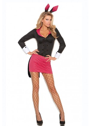 Ladies Bunny Playboy Fancy Dress Costume