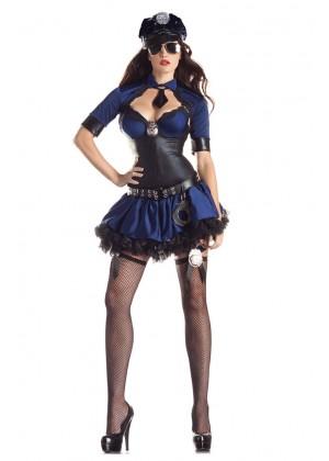 Ladies Police Uniform Fancy Dress Costume