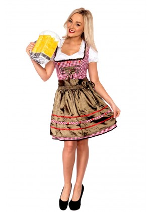 Ladies Beer Maid Wench German Costume