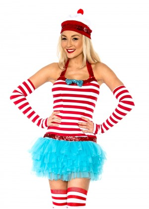 Ladies Wheres Wally Wenda Fancy Dress Costume