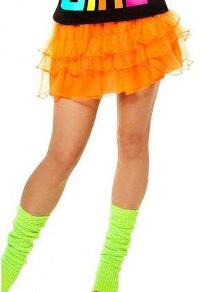 Orange 80s Pettiskirt lh186orange