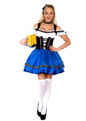 Ladies Oktoberfest Beer Fancy Dress Costume