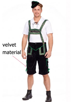 Mens Lederhosen Bavarian German Beer Costume