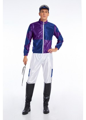 Purple Jockey Costume Mens