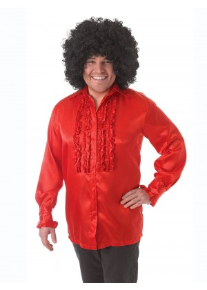 Mens 60's 70's Groovy Hippie Disco Shirt Costume