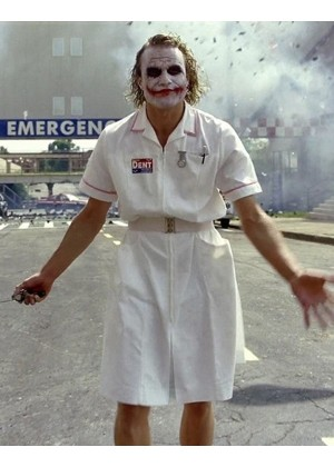 Mens Twisted Joker Nurse Costume