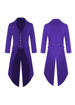 Purple STEAMPUNK TAILCOAT JACKET