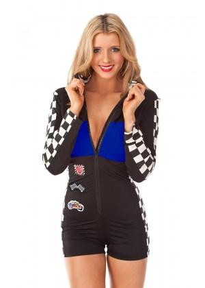 Blue Racer Racing Costume