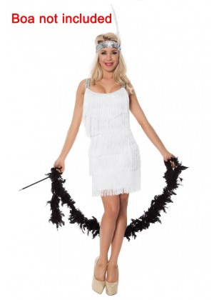 White Ladies 20s 1920s Charleston Flapper Costume lh340w