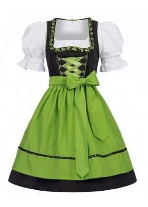 Green Ladies German Beer Maid costume ln1001g