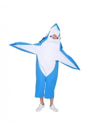 Shark Costume Cosplay Adult Party Animal Funny Unisex