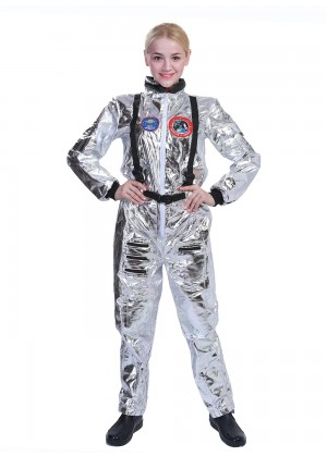 Ladies Astronaut Costume Jumpsuit
