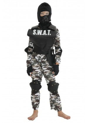 Kids SWAT Military Costume lp1032