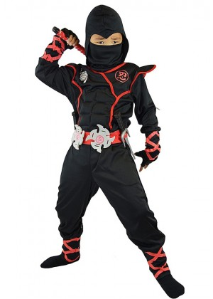 Kids Black Ninja Boys Jumpsuit  lp1040