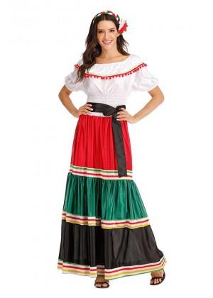 Woman Mexico Spanish Costume lp1061
