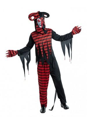 Adult Sinister Jester Adult Clown Costume lp1063