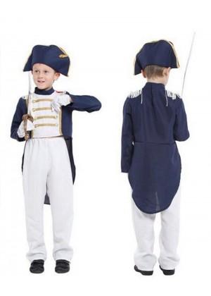 Pirate Jack Sparrow Captain Caribbean Buccaneer Boys Costume