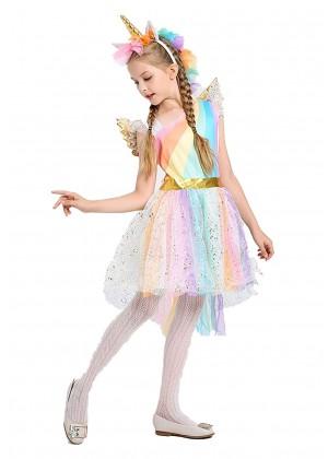 Girls Unicorn Tutu Fancy Dress Costume