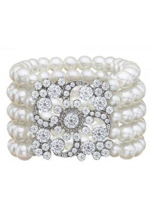 Silver 20s Flapper Bracelet
