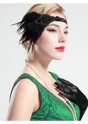 20s Flapper Feather Headband