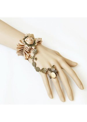 ladies Dracula Gothic Queen Bracelet Ring Set  lx0211