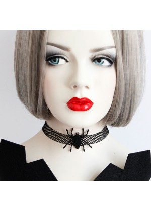 Ladies Spider Chain Lace Choker lx0214