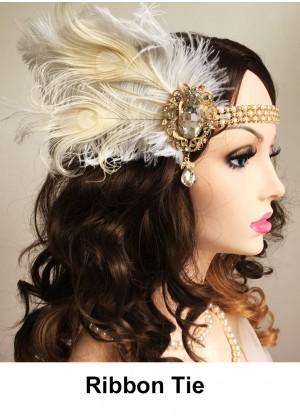 Ladies 1920s Vintage Flapper Headband lx0250