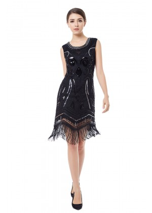 1920 Gatsby Dress Black Cocktail Dress