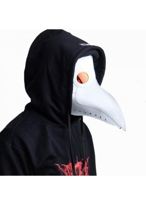 White Steampunk Plague Doctor Mask