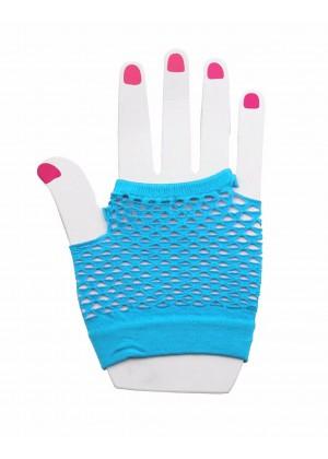 Light Blue Fishnet Gloves lx3007-10