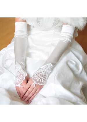 White Gloves Over Elbow Length 70s 80s 1920s Women's Lace Party Dance Costume