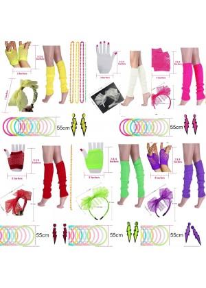 Ladies 80s Costume Accessories Set tt1047lx3007lx3019tt1017tt1048tt1059 lx3019