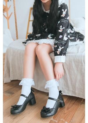 Ladies White Lolita Socks lx3020