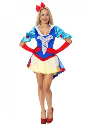 Ladies Snow White Disney Fancy Dress Costume