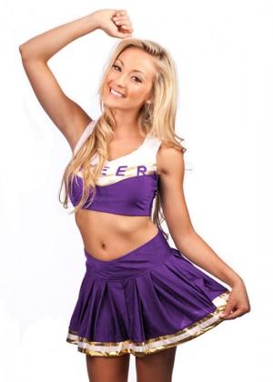 Ladies Purple Cheerleader Costume lh347p