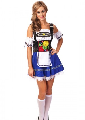 Blue Oktoberfest Beer Maid Inspired Halloween Costume