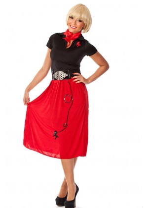 1950s poodle skirt costume
