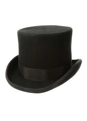 Top Hat Mat Hatter Party Costume Magician Wedding Fedora Lincoln Victorian Gentleman Ring Master