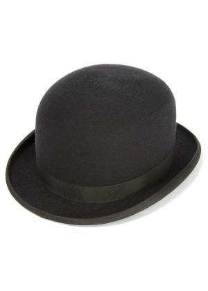 Kaminski KANGOL Irish Bowler Hat Stiff Wool Felt Blend Cap Derby Steampunk Costume Accessory