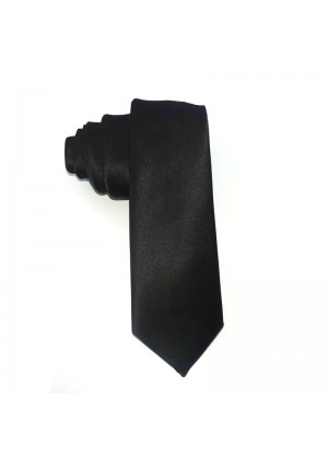 1920s Mens Black Gangster Costume Tie Roaring 20s Gatsby Fancy Dress Costume Accessory