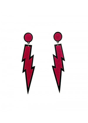 Glitter lightning EARRINGS PLASTIC ROCK star 80s COSTUME