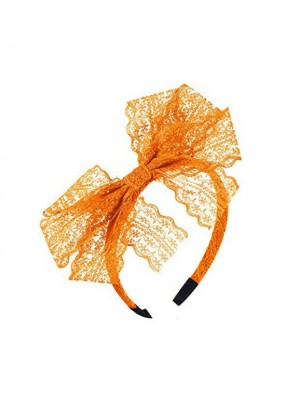 Orange 80s Party Headband