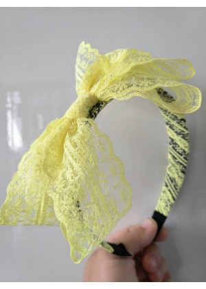 Yellow 80s Party Headband