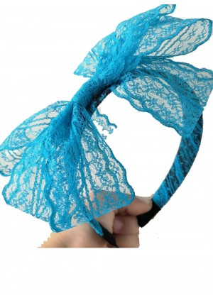 Lake Blue 80s Party Headband