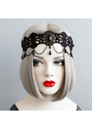 Halloween Veil Headpiece Vintage Dracula Queen Headdress Wedding Lolita Vampire Theme Twilight