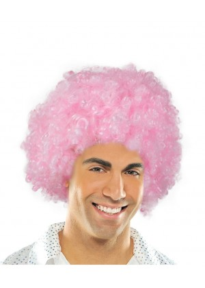 Pink Funky Afro Wig