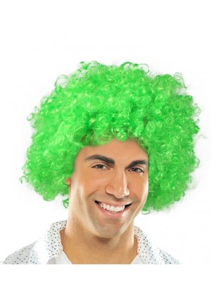 Green Funky Afro Wig