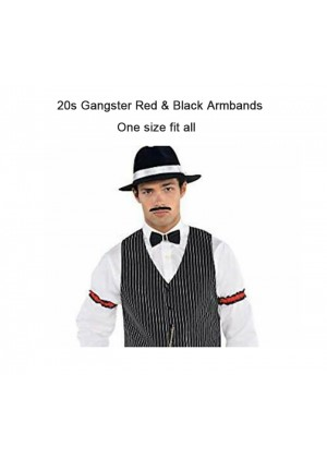 20s gangster red & black armbands